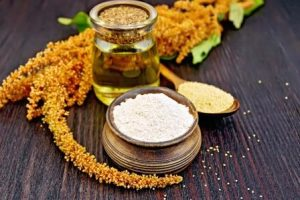 amarant semená, olej a květ
