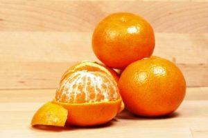 mandarinky cele a osupane ovoce