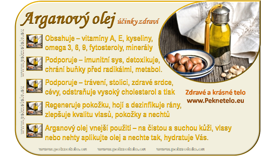 Info obrázek arganový olej