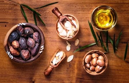 arganové semena a arganový olej