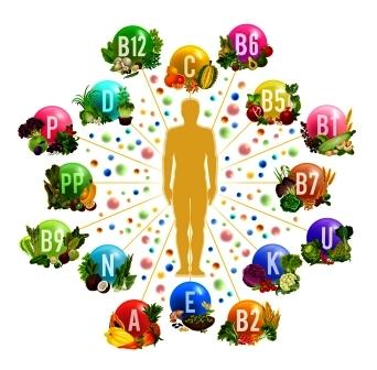 telo a vitaminy, mineraly
