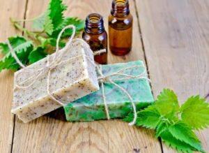 koprivove mydlo a olej