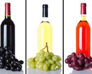 vino bile, cervene, ruzove