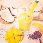 smoothie chia mango