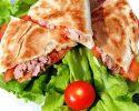 Recepty na plněný pita chléb a tortilu s rybou (losos a tuňák).