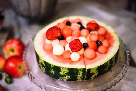 meloun, ovocny salat