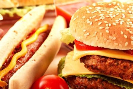 rýchlé občerstvení, hamburger,hotdog