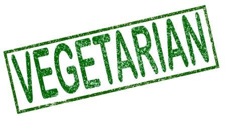 vegetariánství nápis