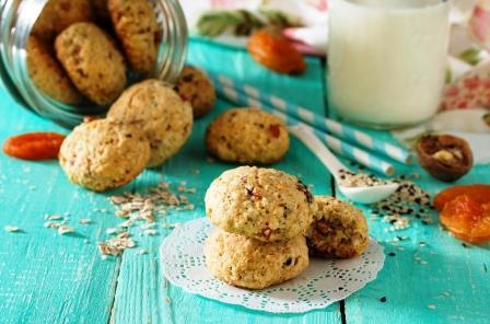 zdravé sušenky z ovesných vloček a semínek