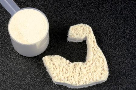 Bílkovinový prášek hrachový protein - doplňek pro podporu tvořby svalů