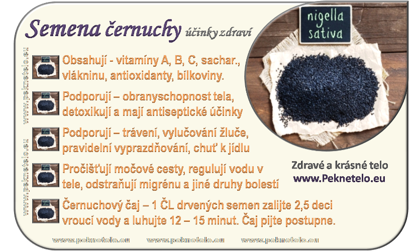 Info obrázek černuchy semen