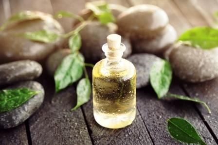 olej zo zeleneho caje s koupelnymi kameny