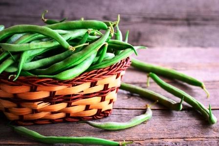 cerstve surove zelene fazule