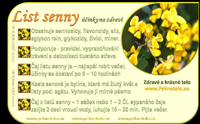 info obrazek list senny