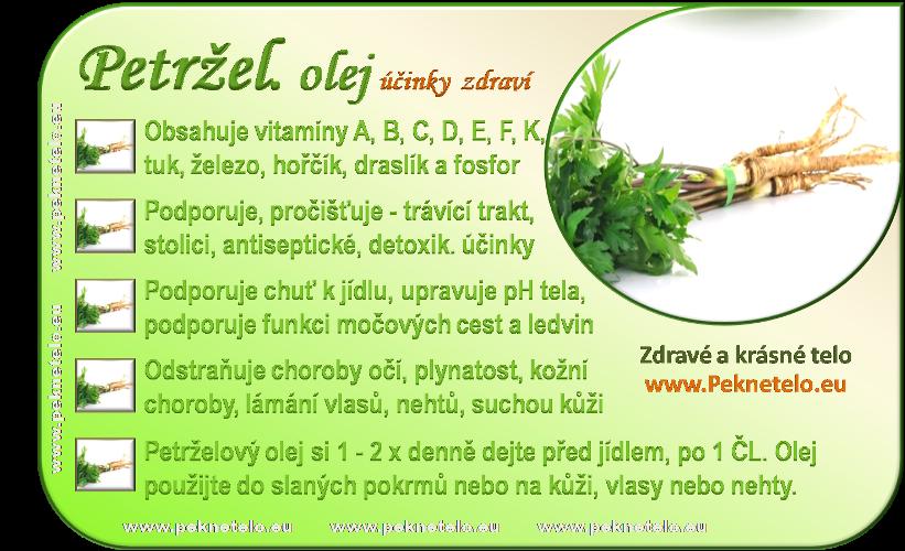 info obrazek petrzelovy olej