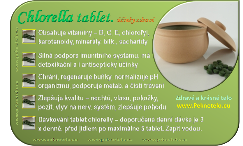 info obrazek chlorella tablety