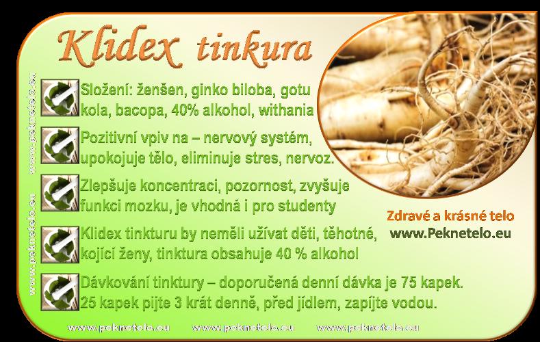 info klidex tinktura cz